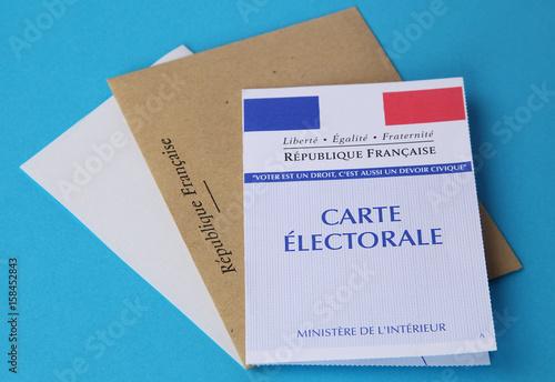 Carte électorale Poster