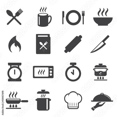 Chef , Cook , Cooking, Restaurant Icon , Logo. Vector Illustration. Cuisine  ,