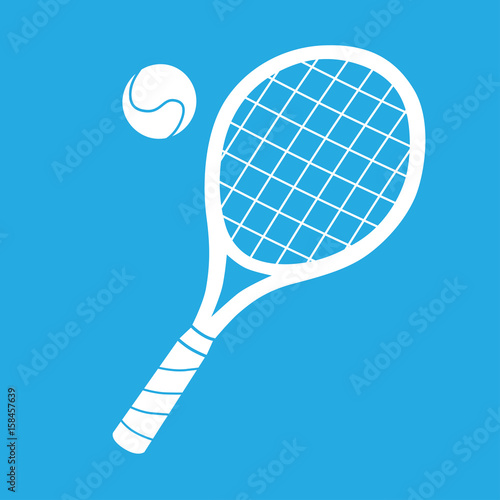 Obraz na plátně Tennis racket and ball icon