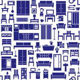 Furniture and home equipment related vector seamless pattern 1 - 158457878