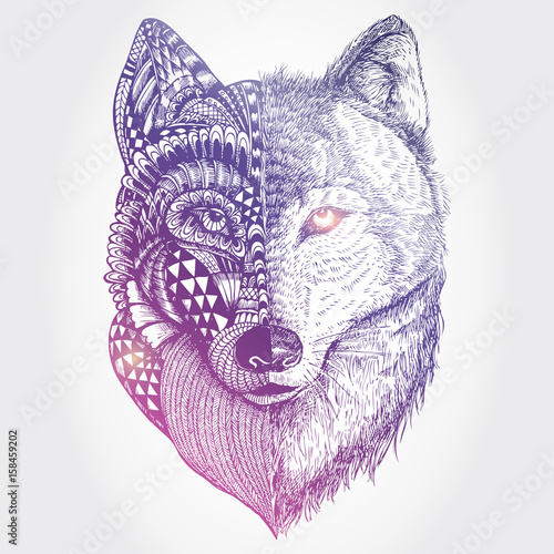 abstract-wolf-illustration-vector