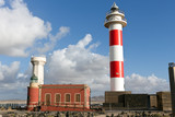 Fuerteventura - El Cotillo Lighthouse on the promontory of Punta Toston, Canary Islands