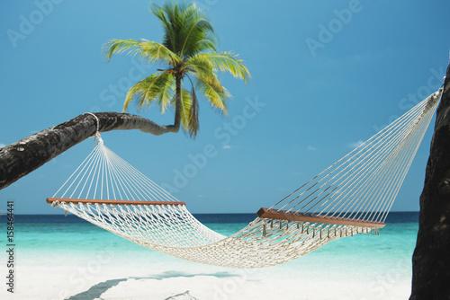 Papiers peints Tropical plage Hängematte am Strand