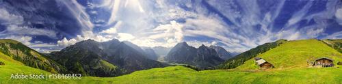 Papiers peints Photos panoramiques 360° Karwendel Panorama mit Föhnwolken