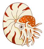 Cartoon cute nautilus