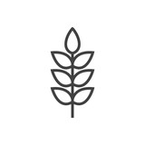 Isolted Grain Outline Symbol On Clean Background. Vector Wheat Element In Trendy Style. - 158482883