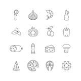 set of minimalistic pizza icons - 158484407