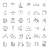 set of traveling and tourism icons - 158484852