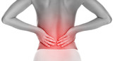 Woman with lower pain back - 158486411
