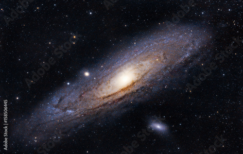 Foto op Canvas Heelal The Andromeda Galaxy