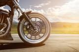 Jazda motocyklem na drodze