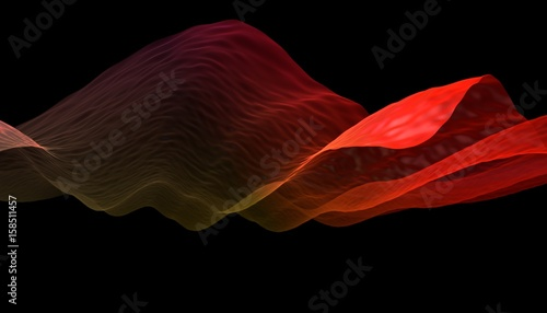 Staande foto Abstract wave 3D Wavy Background. Abstract design template. Modern pattern. Dynamic effect. 3d illustration.
