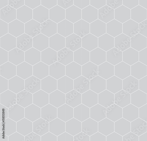 geometric hexagon minimal grid graphic pattern background - 158513849