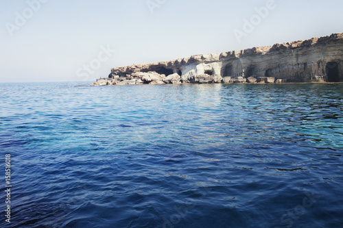 Sea caves of Cavo greco cape. Ayia napa, Cyprus.