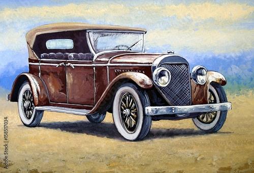 auto-peintures-de-voitures-retro