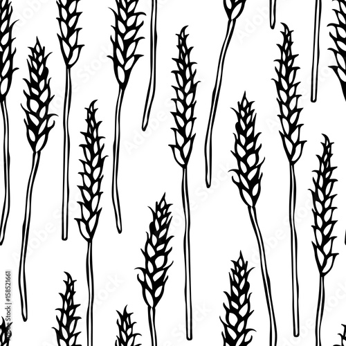 Seamless With Malt Beer Pattern Isolated On A White Background