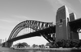 View of the Harbour Bridge and the Opera House in Sydney, Australia