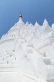 Hsinbyume (also known as Myatheindan) Pagoda is a large white pagoda in Mingun near Mandalay in Myanmar.