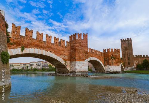Staande foto Rome Ponte Pietra bridge in Verona - Italy