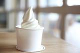 Japaese soft cream on wood - 158533804