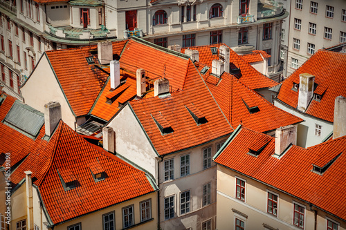 Poster Red roofs in Prague