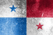 Panama flag grunge background. Background for design in country flag
