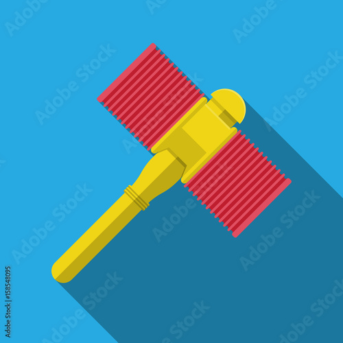 plastic toy hammer.