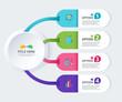 Infographic diagram template design simple design. include icon design. vector illustration.