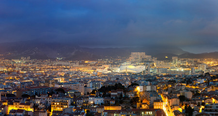 Panorama sur Marseille et le Stade Vélodrome