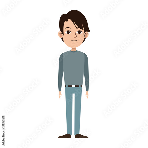 man character male avatar people icon vector illustration