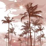 Tropical palm tree background - 158564041