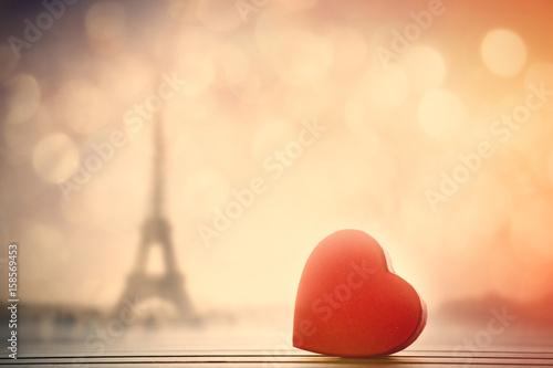 Close-up view at heart shape box - 158569453