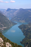 Tara mountain and Drina river canyon landscape