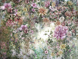 Abstract colorful flowers watercolor painting. Spring multicolored in .nature. - 158576463