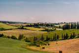 Scenic view of the countryside near Bolgheri, Tuscany, Italy