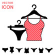 Set of Lingerie Vector Icon on White Background. Modern Youth Underwear Clothes