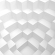 Abstract White Cube Background. #d Illustration of Minimal Web Design