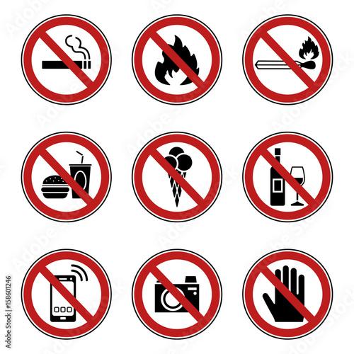 Verbots- & Warnschilder (in Rot)