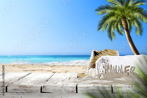 beach background  - 158613409