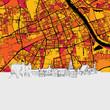 Warsaw, Poland, Skyline Map - 158625636
