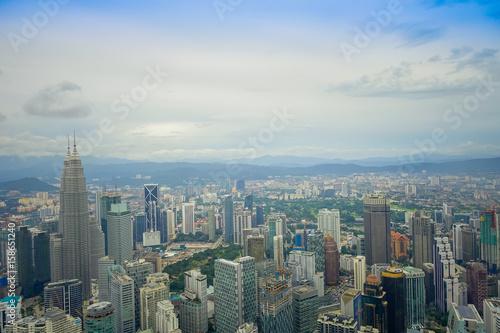 Beautiful view of Kuala Lumpur from Menara Kuala Lumpur Tower, a commmunication Poster
