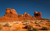 Monument Valley pays des Navajo. Rocher dans le désert