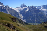 The majestic scenery of the Bernese Alps from the summit First, Switzerland