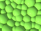 3d illustration of an abstract background in green color scheme
