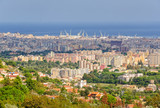 View of Palermo from Monreale with the cranes in the port in the horizon - Sicily, Italy