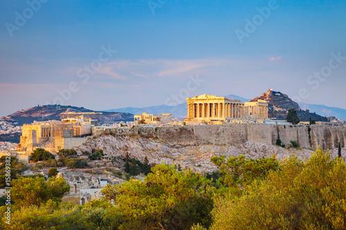Deurstickers Athene View on Acropolis at sunset, Athens, Greece