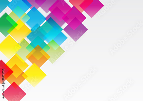 Abstract vector, concept of network. Color geometric background with squares