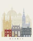 Gdansk skyline poster