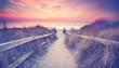 Sonnenuntergang am Strandübergang
