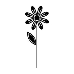 Beautiful flower gardening icon vector illustration graphic design